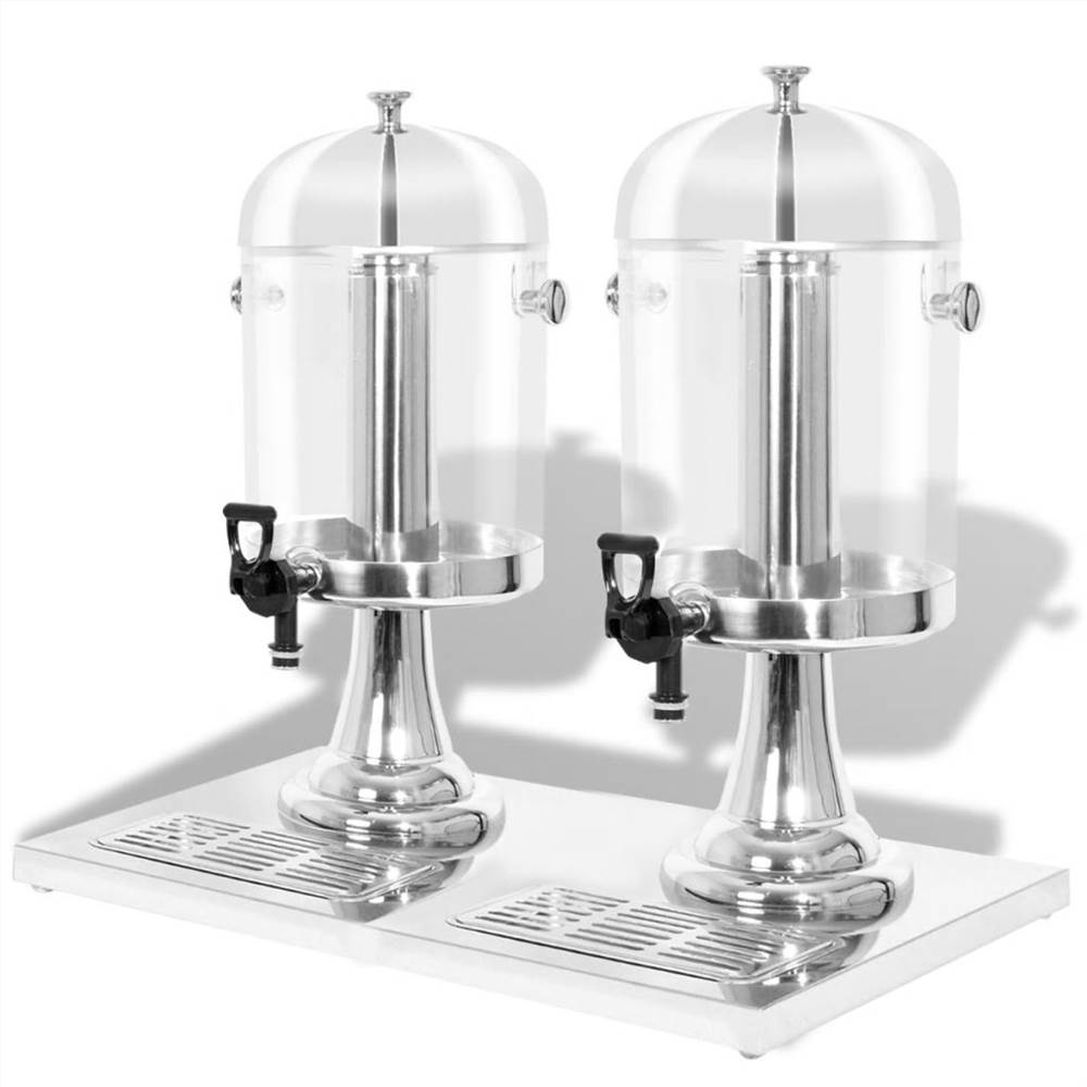 Double Juice Dispenser Stainless Steel 2 x 8 L
