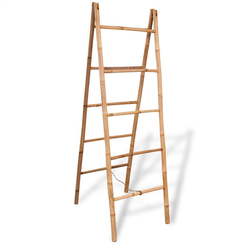 5段竹付きダブルタオルはしご50x160cm