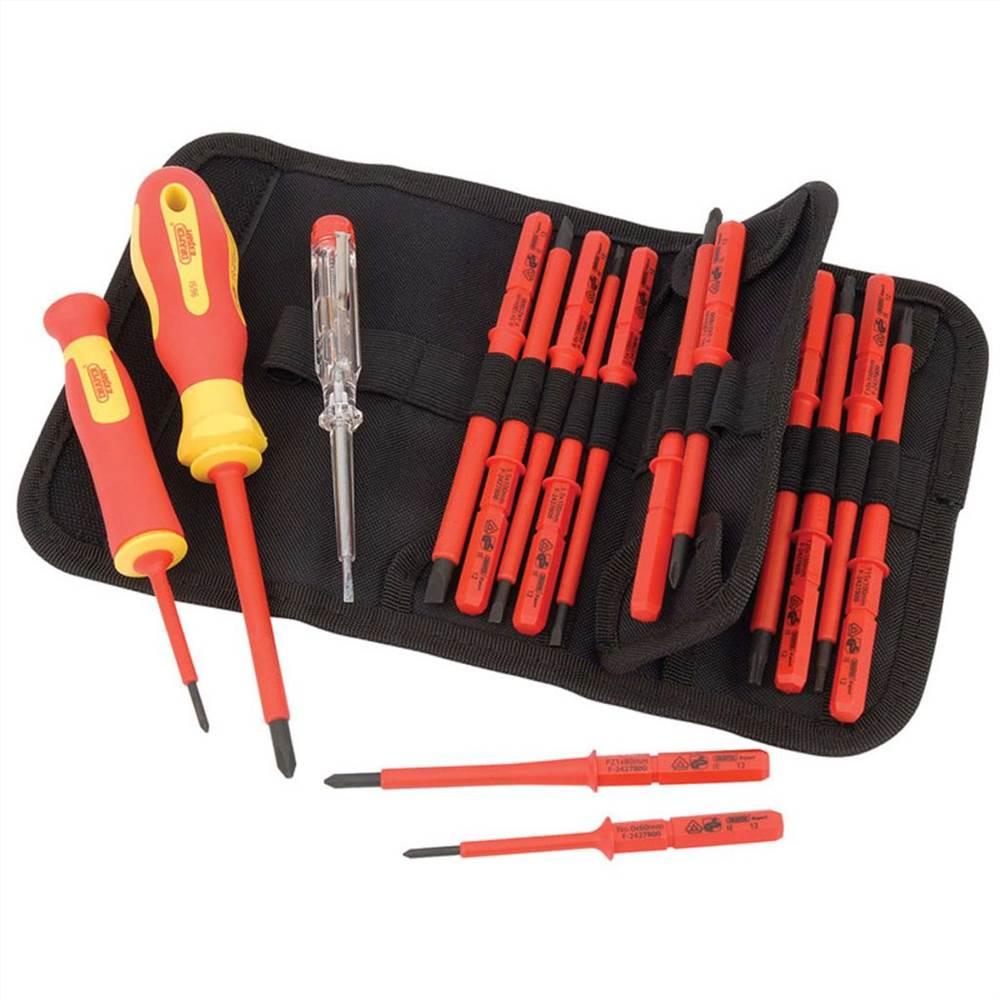 Draper Tools 18-teiliger Spannungsprüfer & isolierter Schraubendreher-Satz 05776