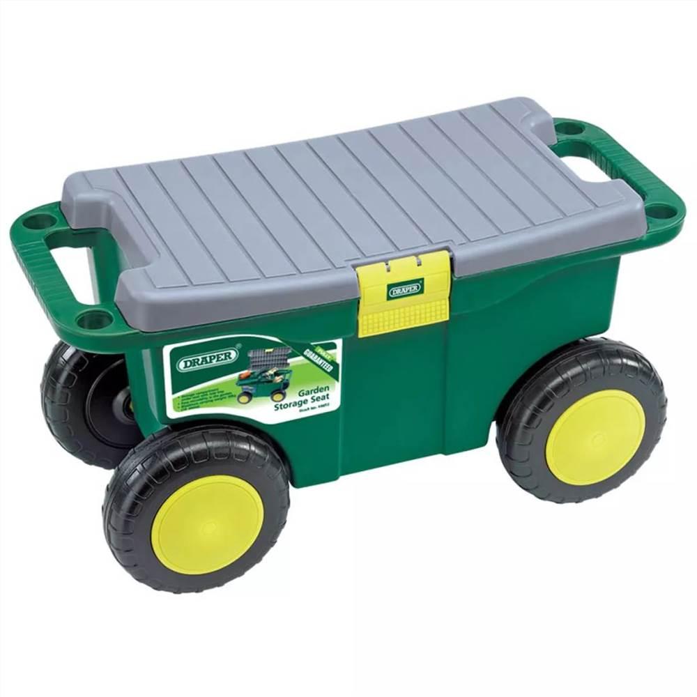 Draper Tools Chariot et siège pour outils de jardinage 56x27.2x30.4 cm vert 60852