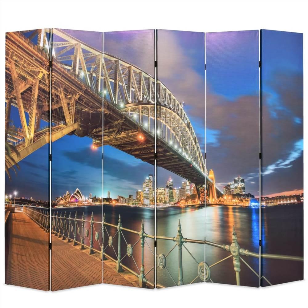 Folding Room Divider 228x170 cm Sydney Harbour Bridge