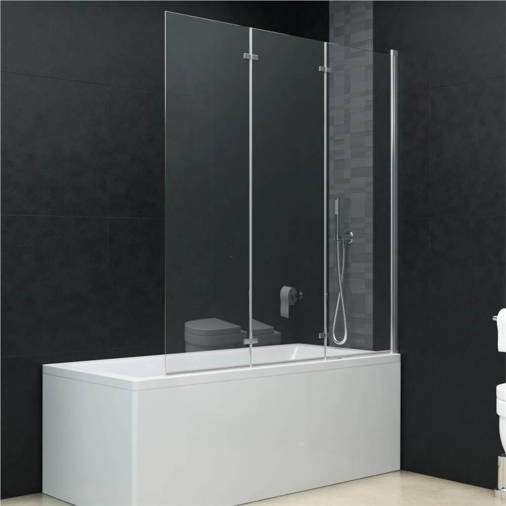 Folding Shower Enclosure 3 Panels ESG 130x138 cm