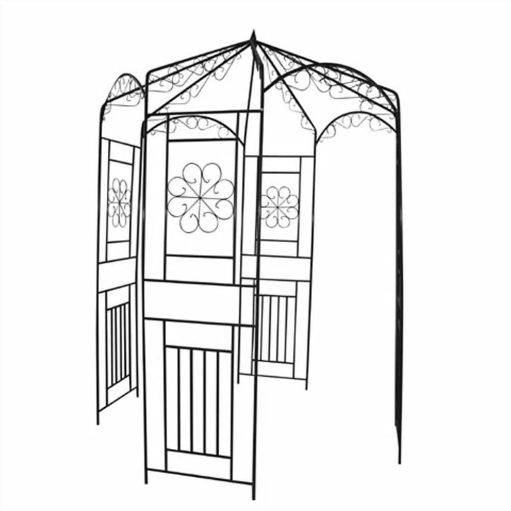 Arche de jardin 250 cm Noir