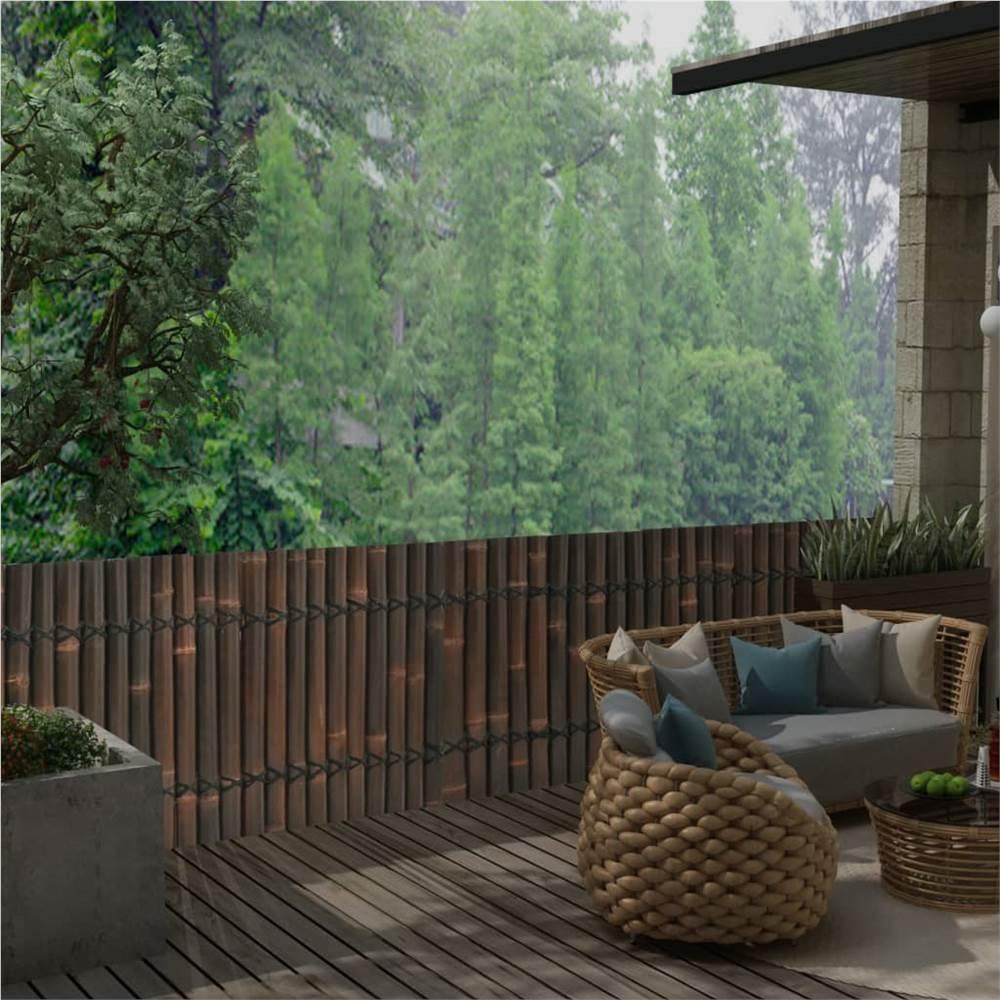 Garden Fence Panel Bamboo 170x75 cm Dark Brown