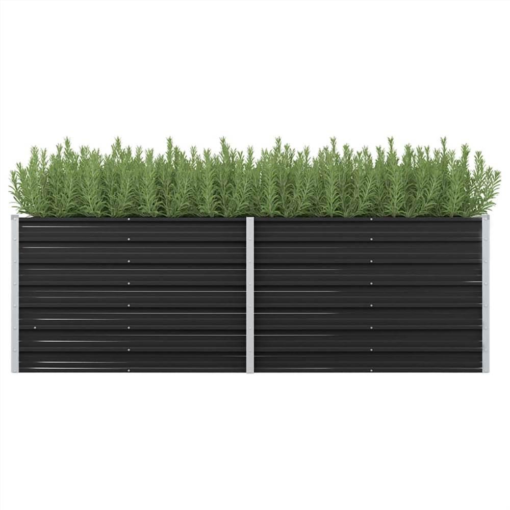 ガーデンレイズドベッド無煙炭240x80x77cm亜鉛メッキ鋼