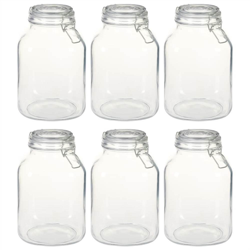 ロック付きガラス瓶6個3L