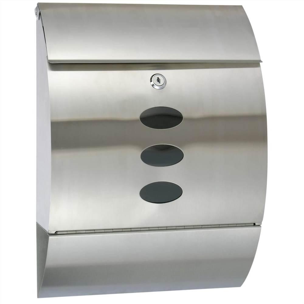 Caixa de correio HI em aço inoxidável 30x12x40 cm