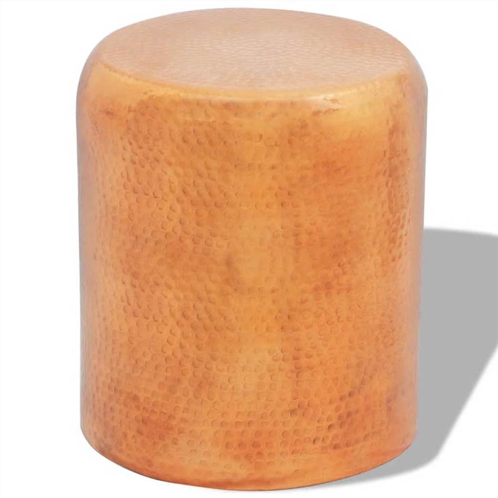 Hammered Aluminium Stool/Side Table Brass/Copper Colour