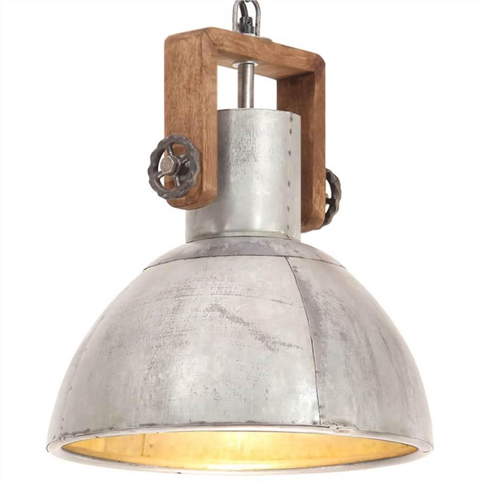 Промышленный подвесной светильник 25 Вт Silver Round 30 см E27