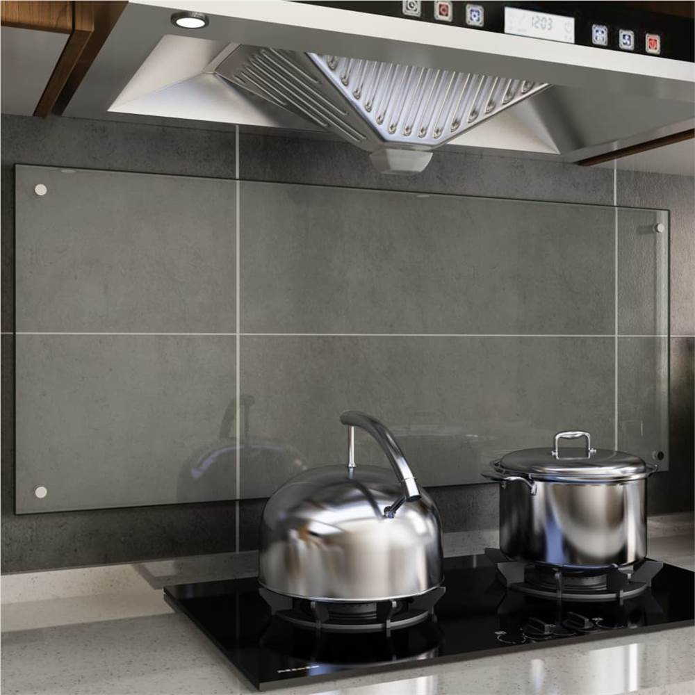 Kitchen Backsplash Transparent 120x50 cm Tempered Glass