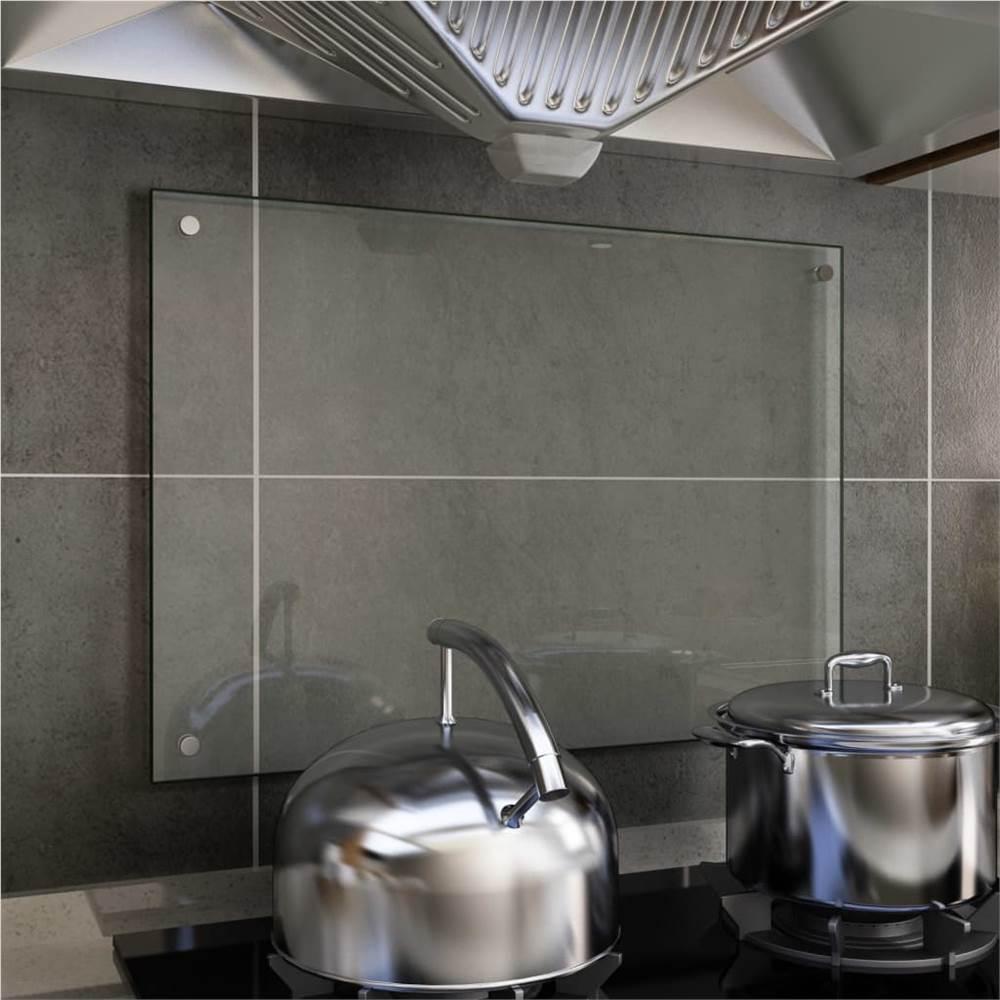 キッチンバックスプラッシュ透明70x50cm強化ガラス