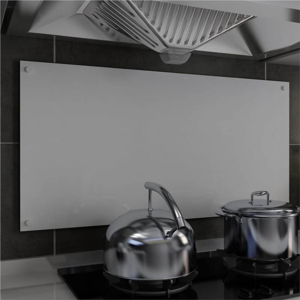 Küche Backsplash Weiß 100x50 cm gehärtetes Glas