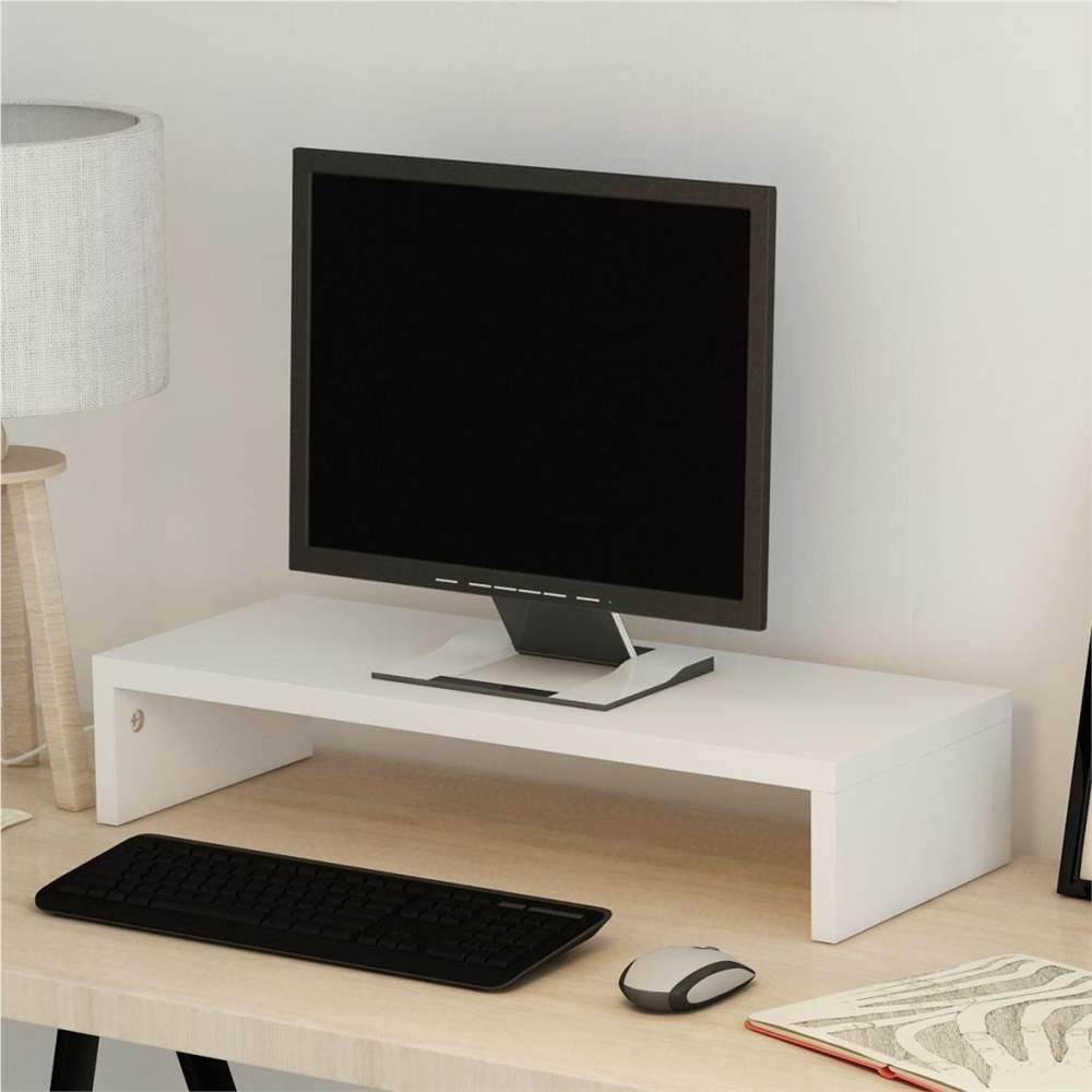 Monitor Stand Chipboard 60x23.5x12 cm White