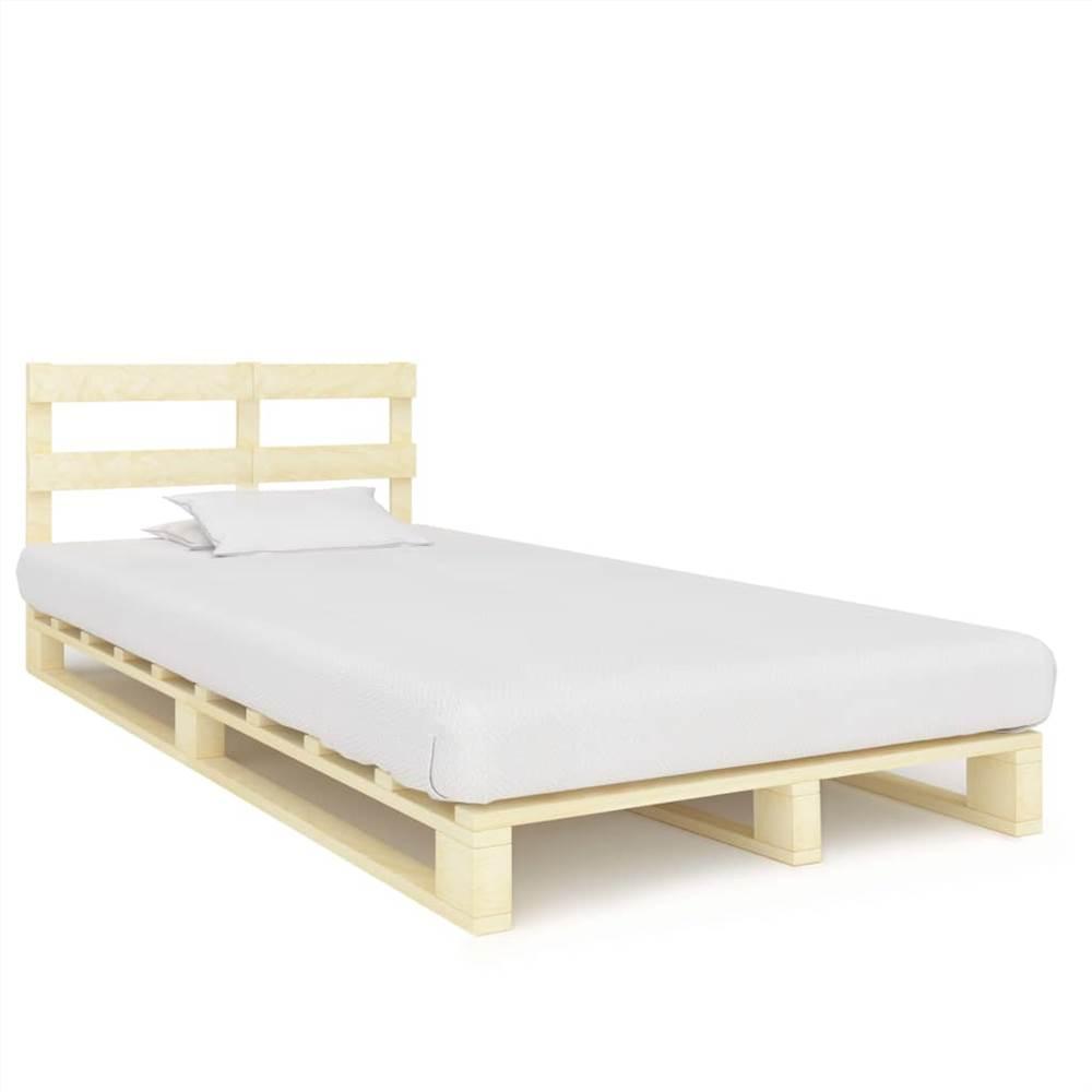 Pallet Bed Frame Solid Pine Wood 120x200 cm