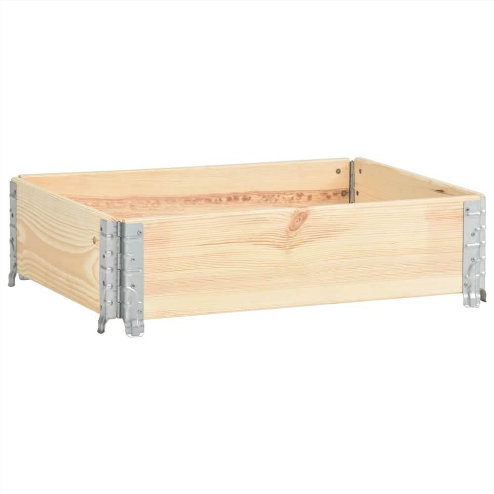 Pallet Collar 60x80 cm Solid Pine Wood