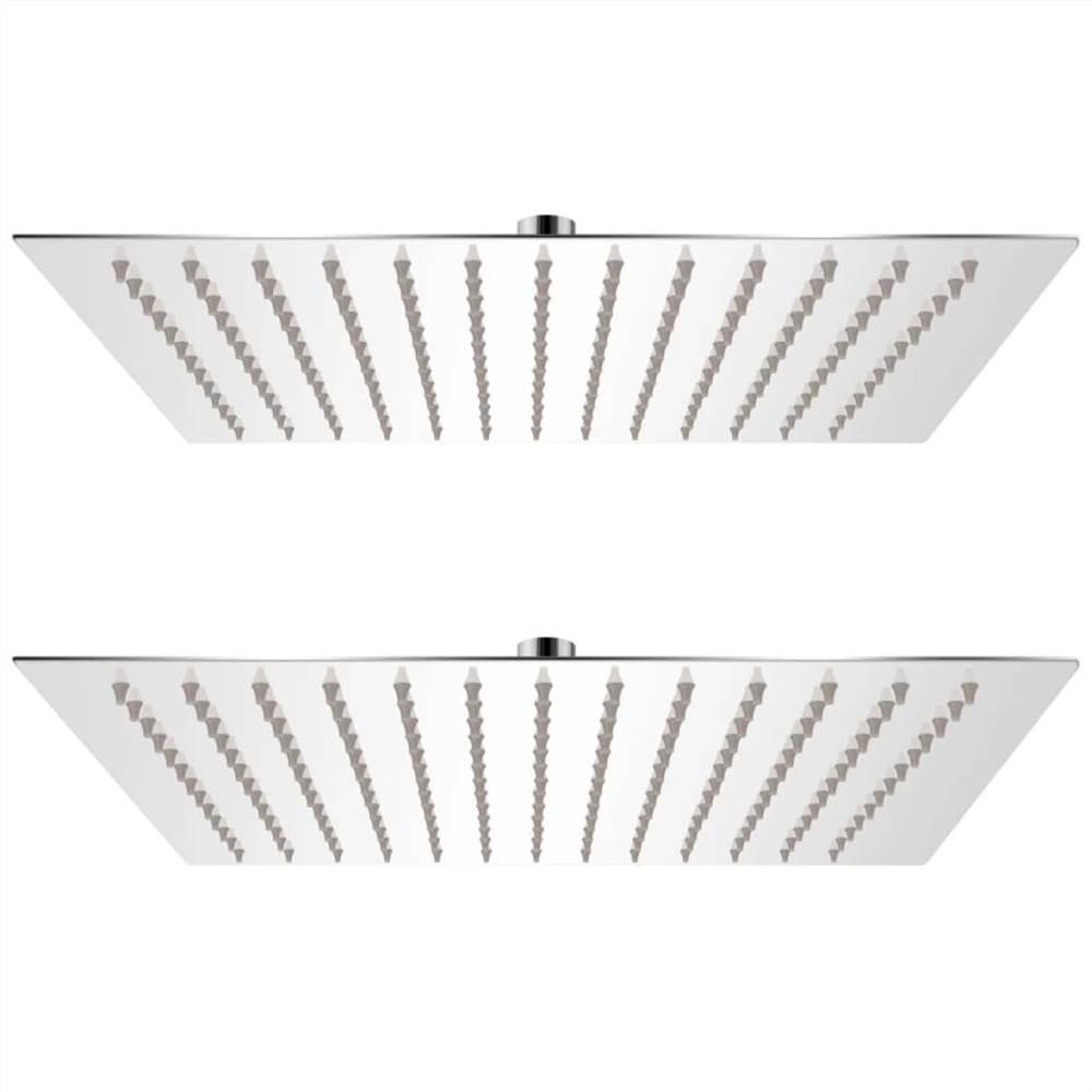Rain Shower Head 2 pcs Stainless Steel 30x30 cm