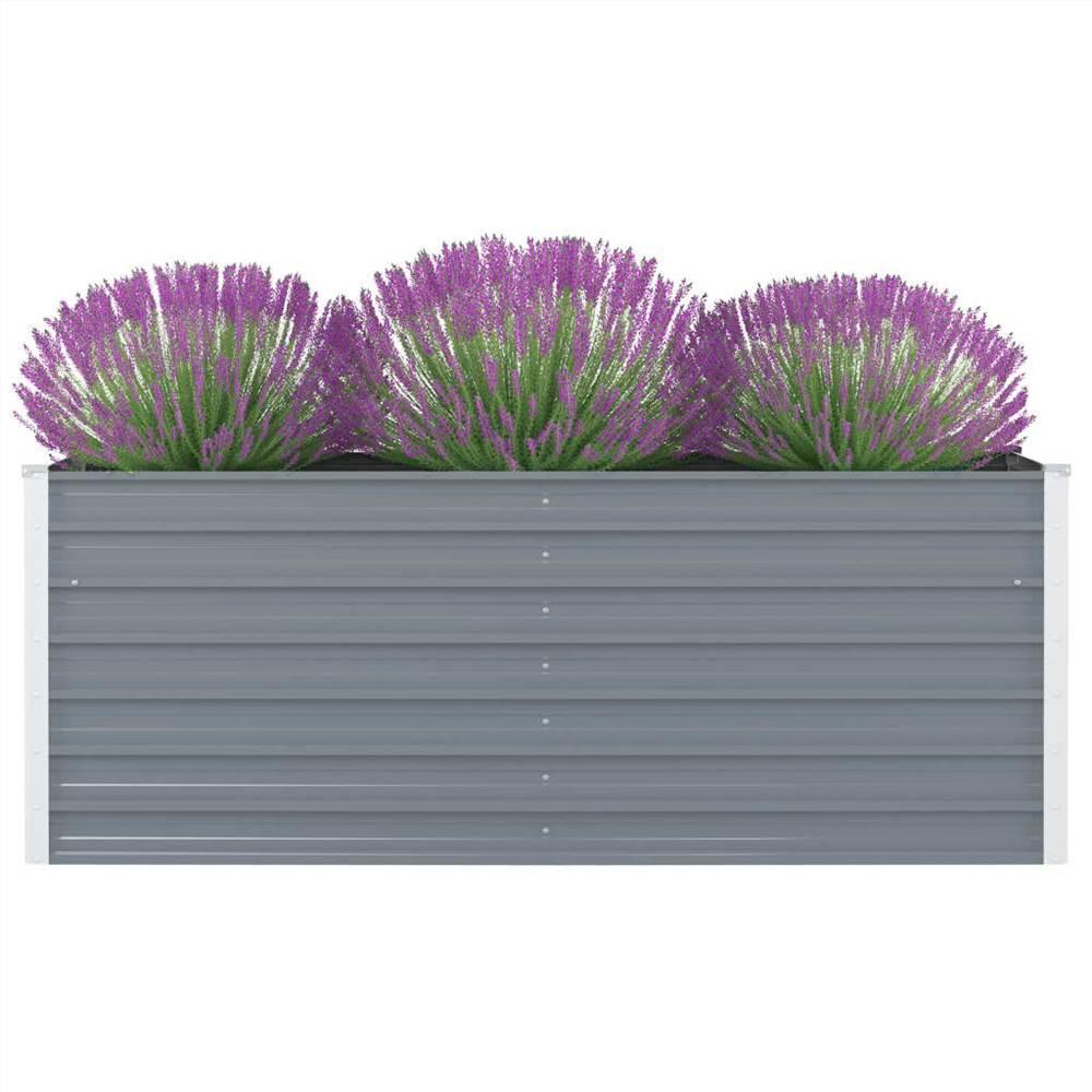 Raised Garden Bed 160x80x45 cm Galvanised Steel Grey
