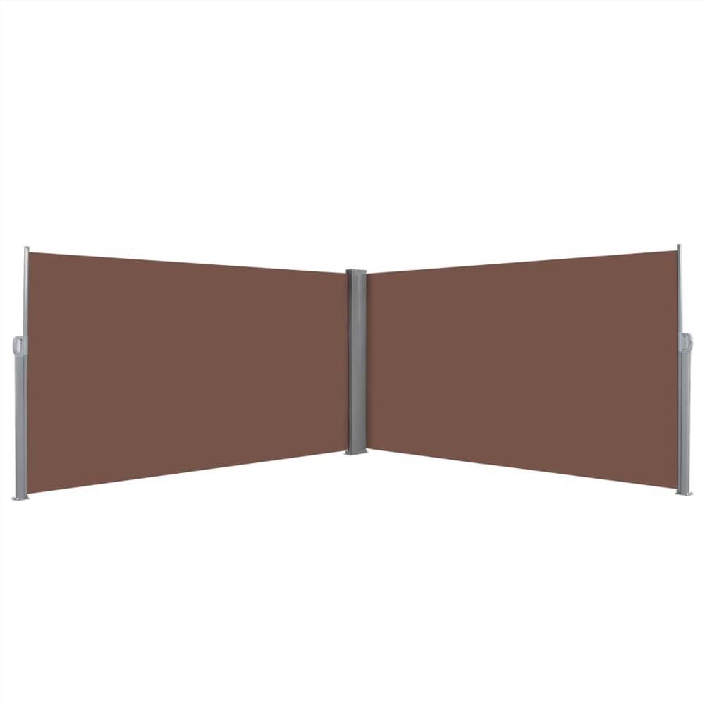 Einziehbare Seitenmarkise 160x600 cm Braun