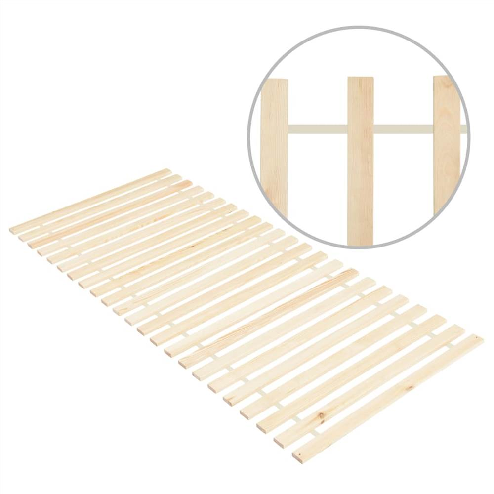 Sommier enroulable 23 lattes 80x200 cm Pin massif
