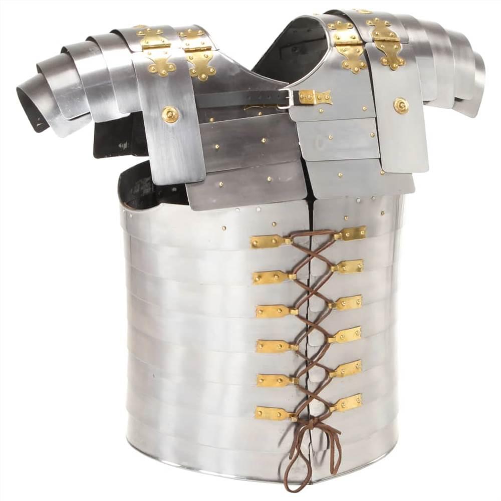 Római katona testpáncél replika LARP ezüst acél