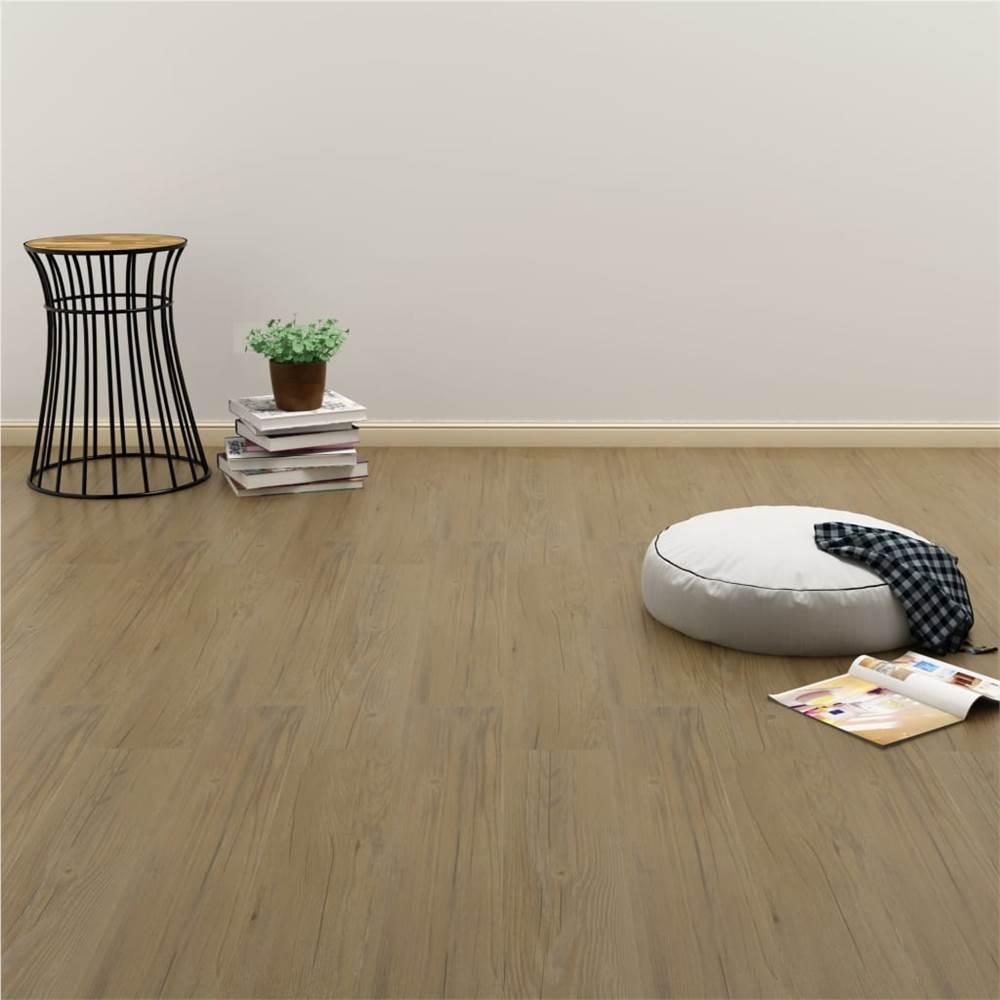 Listoni per pavimenti autoadesivi 4,46 m² 3 mm in PVC marrone naturale