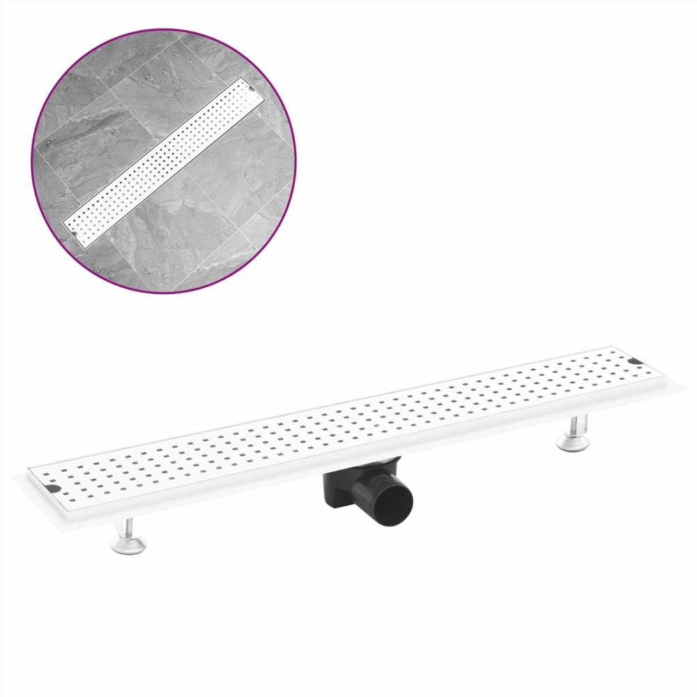 Shower Drain Dots 73x14 cm Stainless Steel