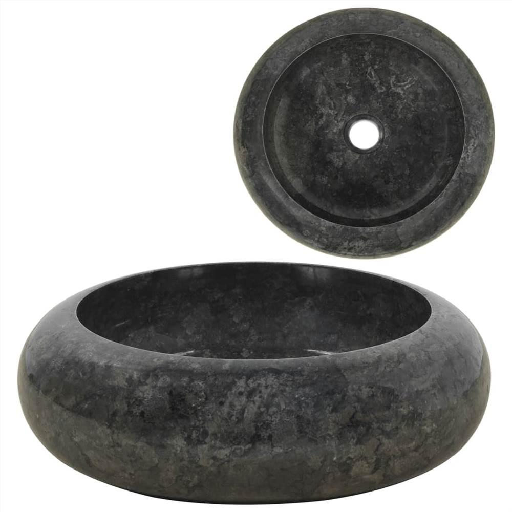 Waschbecken 40x12 cm Marmor schwarz