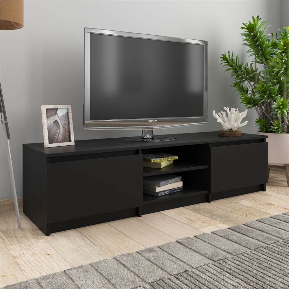 TV-Schrank Schwarz 140x40x35.5 cm Spanplatte