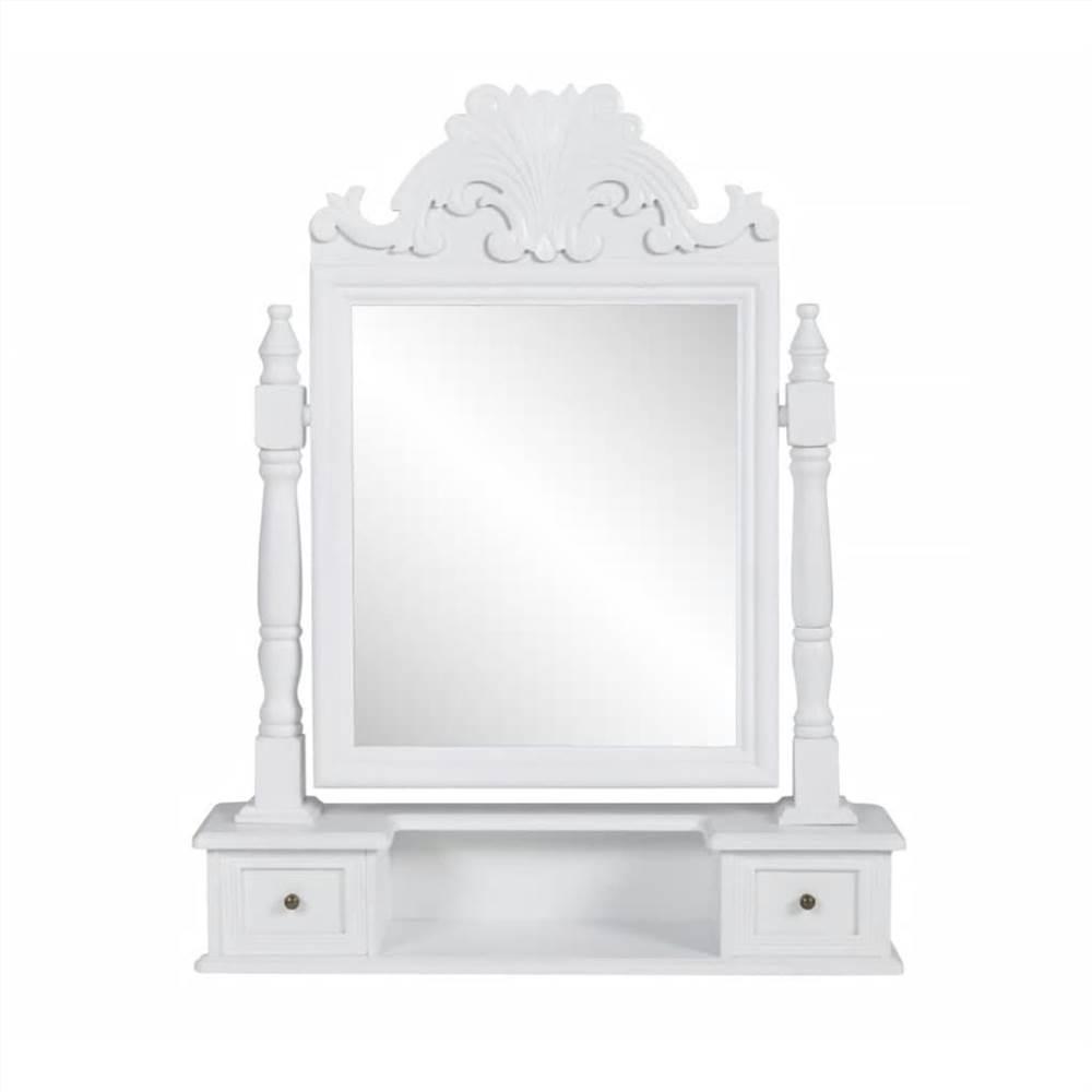 Vanity Makeup Table with Rectangular Swing Mirror MDF