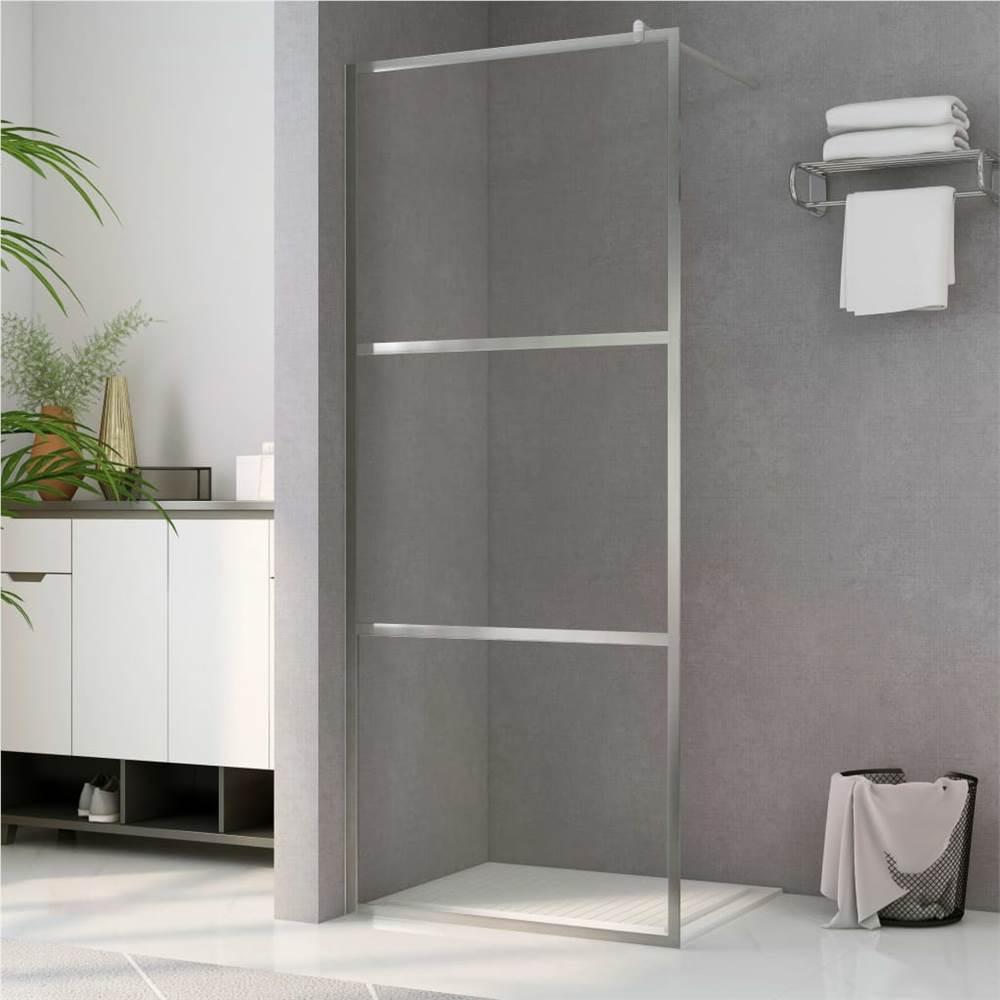 Begehbare Duschwand mit klarem ESG-Glas 80x195 cm