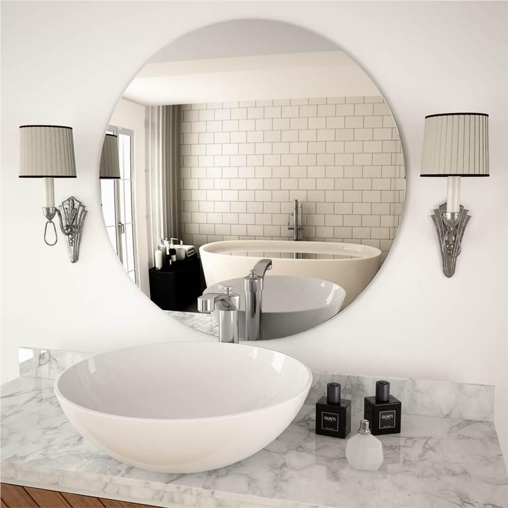 Espelho de parede de vidro redondo de 70 cm