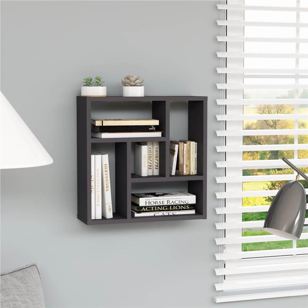 Wall Shelf Grey 45.1x16x45.1 cm Chipboard