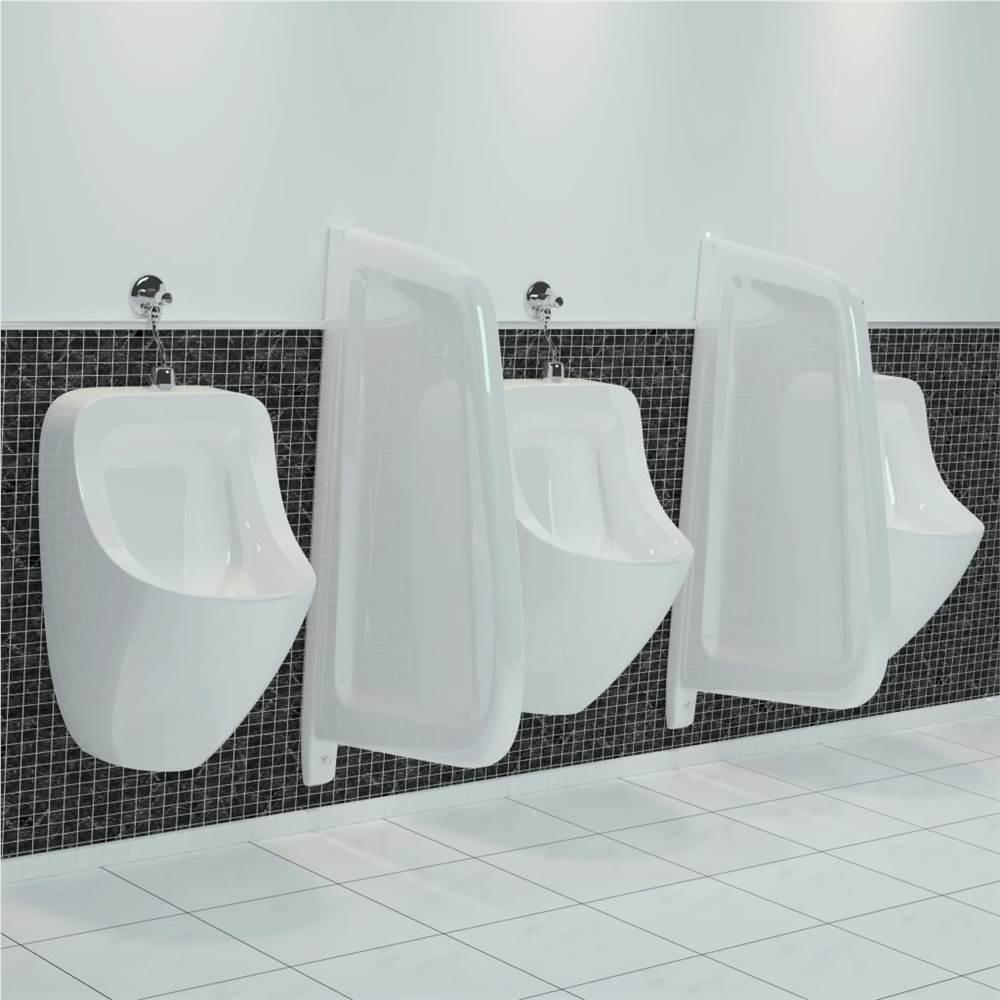 Écran d'intimité mural pour urinoir en céramique blanc