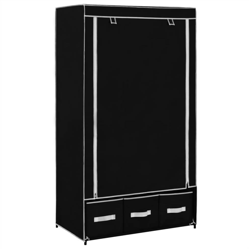 Wardrobe Black 87x49x159 cm Fabric