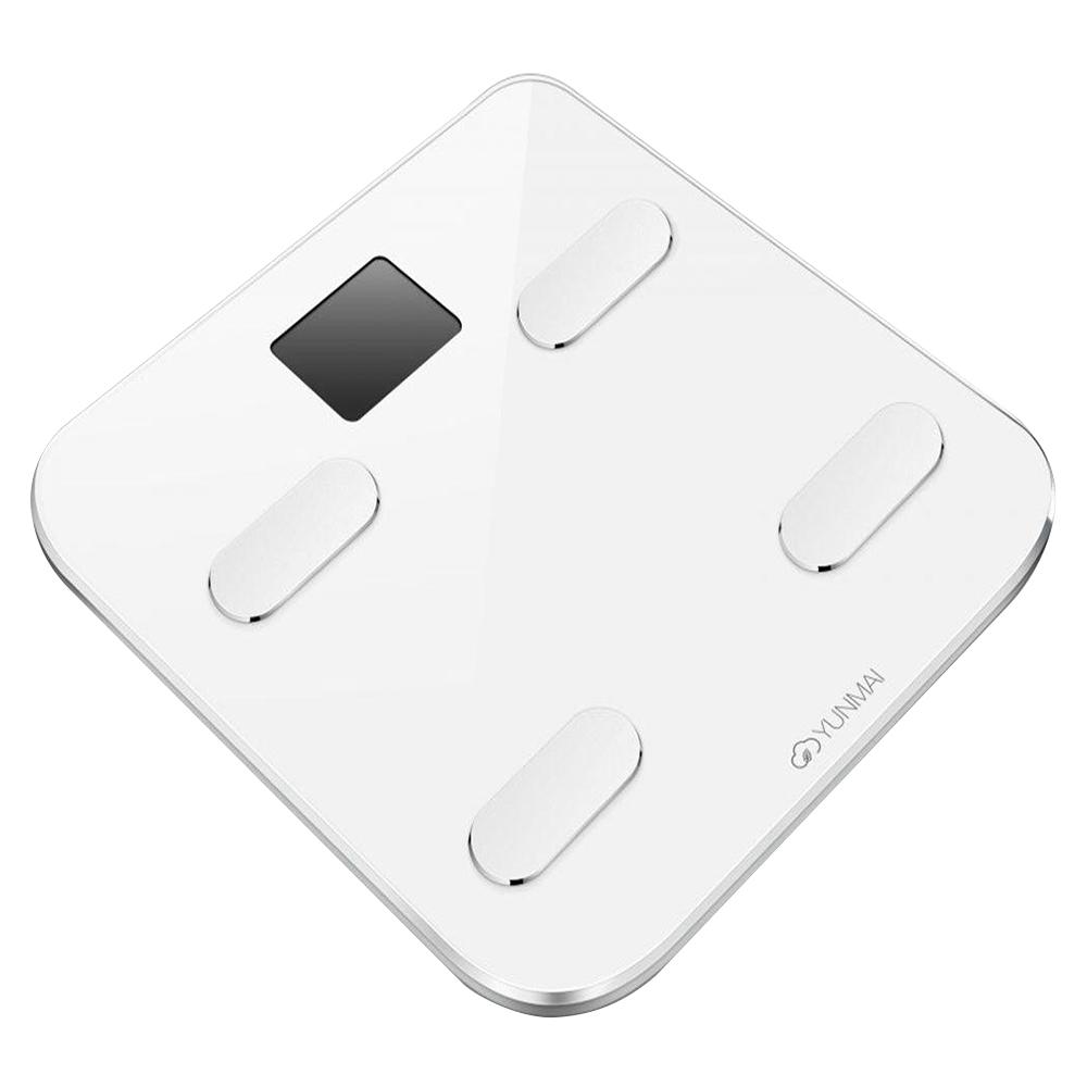 YUNMAI S חכם Bluetooth בקנה מידה שומן גוף סוללה נטענת בקרת APP - לבן