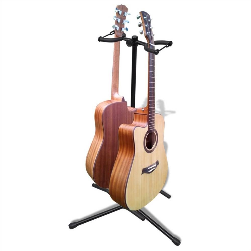 Support de guitare double réglable pliable