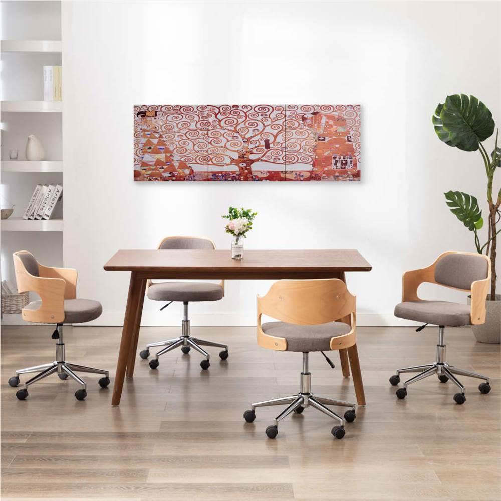 Leinwand Wanddruck Set Baum Gelb 120x40 cm