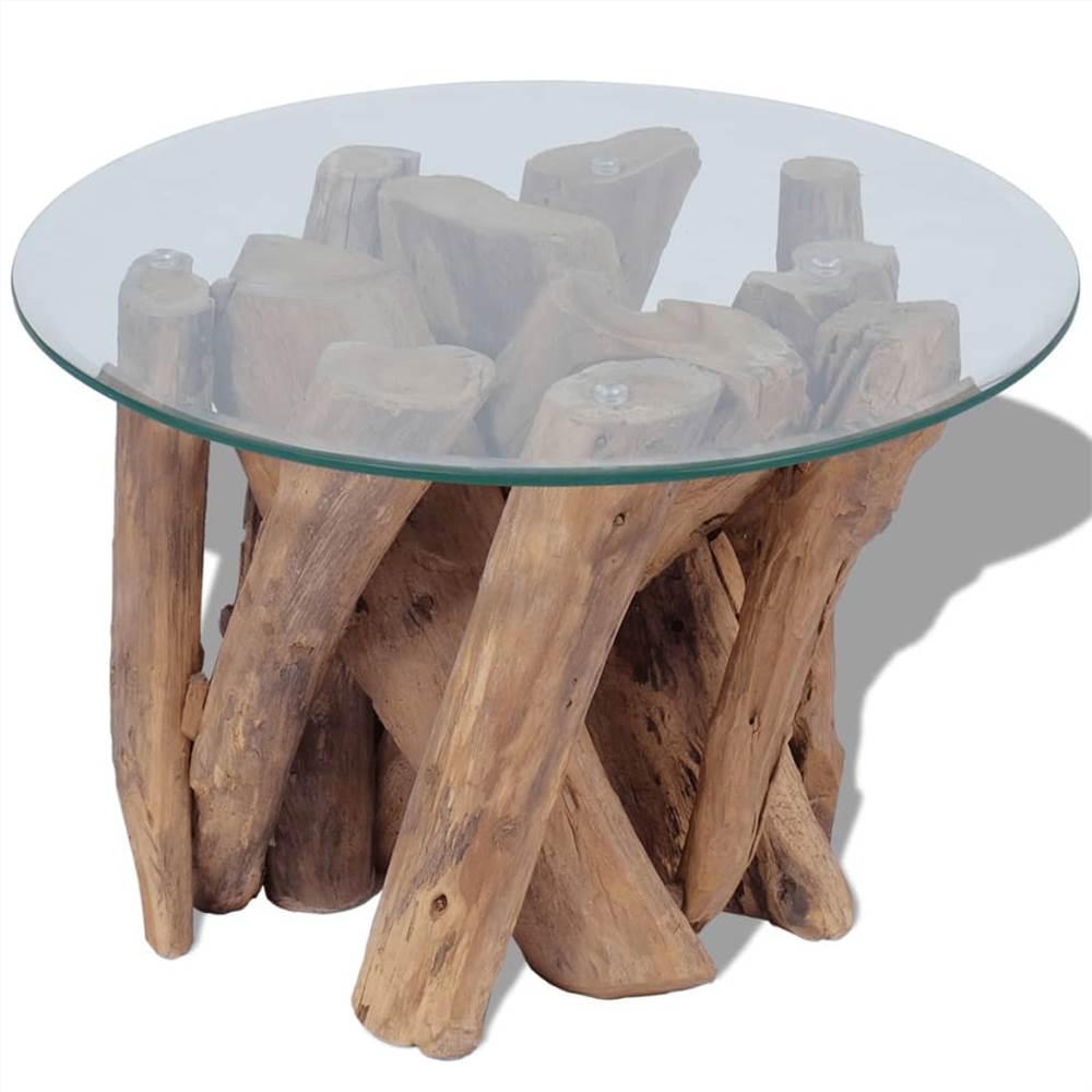 Couchtisch Massives Teakholz Treibholz 60 cm