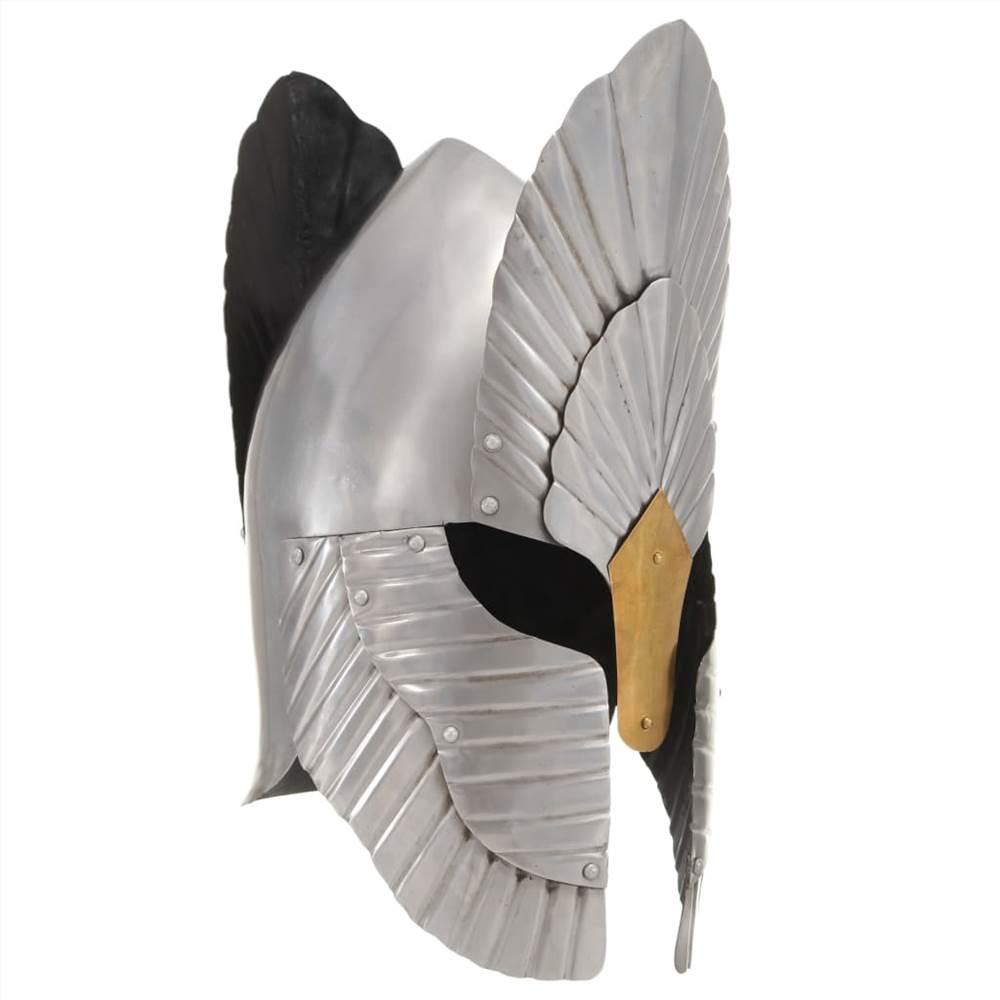 Fantasy középkori lovagi sisak replika LARP ezüst acél