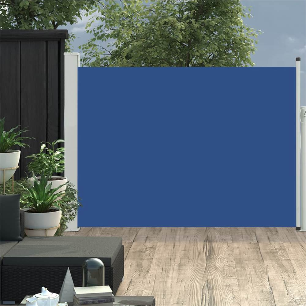 Patio einziehbare Seitenmarkise 100x500 cm Blau