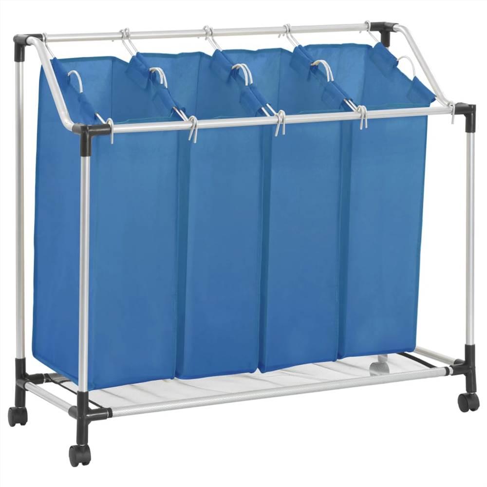 Διανομέας πλυντηρίου με 4 τσάντες Blue Steel