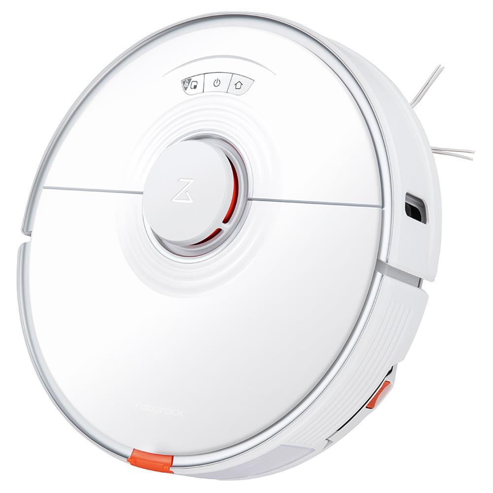 مكنسة كهربائية روبوروك S7 مع ممسحة سونيك أوتوماتيكية برفع 2500Pa شفط قوي ونظام ملاحة LiDAR للتعرف على السجاد بالموجات فوق الصوتية وبطارية بسعة 5200 مللي أمبير في الساعة وبطارية 470 مل وخزان قمامة 300 مل وخزان مياه للتحكم في شعر الحيوانات الأليفة والسجاد والأرضيات الصلبة - أبيض