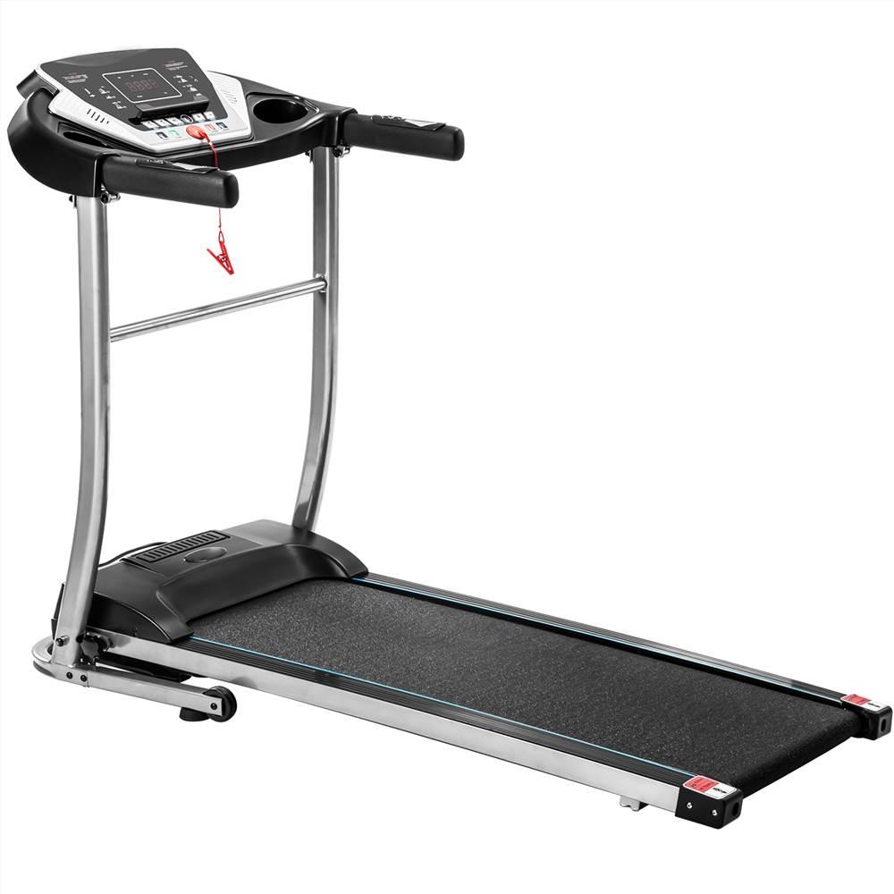 TREXM Easy Assembly Folding Electric Treadmill Motorized Running Machine με μεγάλη οθόνη LCD, Εξοπλισμός οικιακής άσκησης - Μαύρο