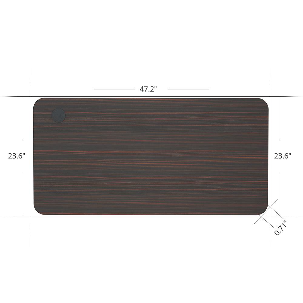 ACGAM 120 * 60 * 1.8 CM Столешница из МДФ высокого качества, подходящая для рамы электрического постоянного стола ACGAM (с одним и двумя двигателями) - красное дерево