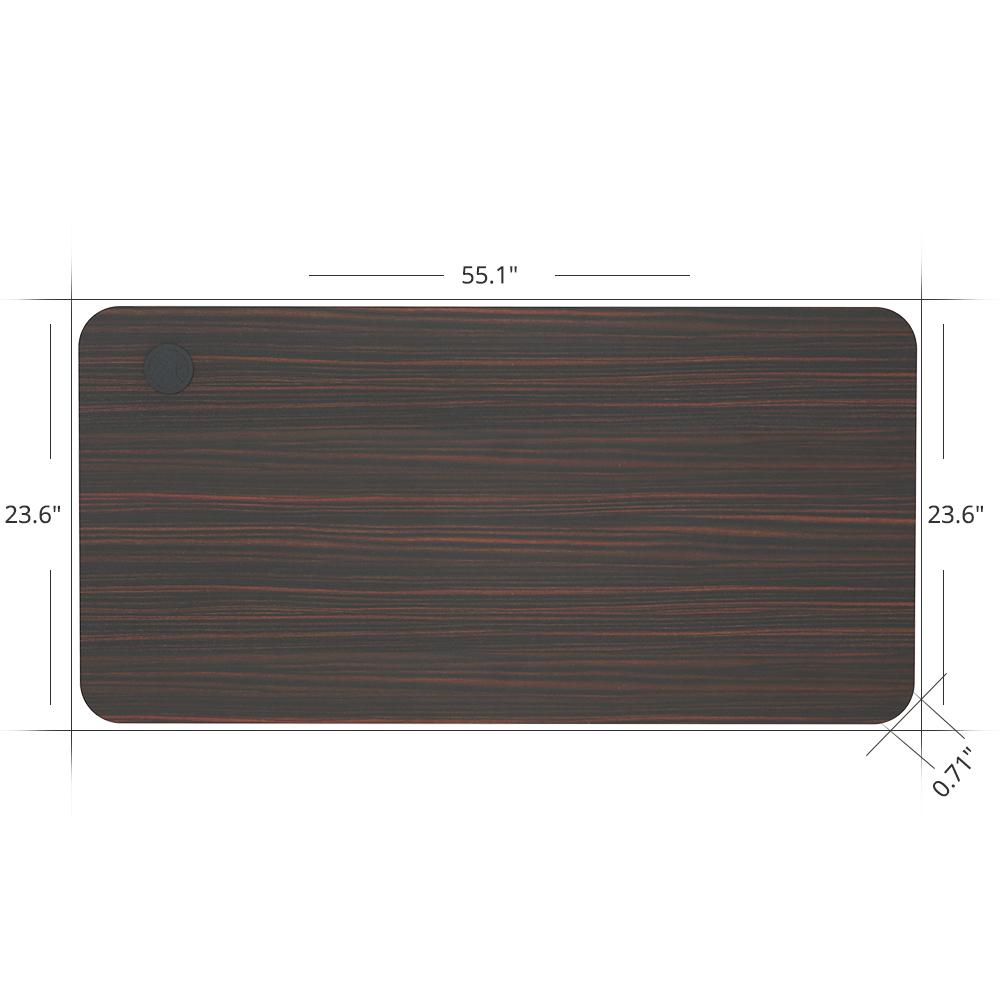Plateau de table ACGAM 140 * 60 * 1.8 CM MDF de haute qualité adapté au cadre de bureau debout électrique ACGAM (moteur unique et double moteur) - Acajou