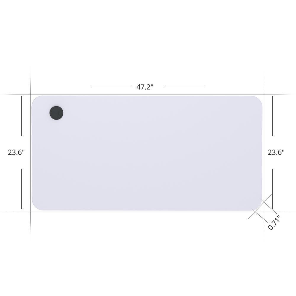 ACGAM 120 * 60 * 1.8 CM MDF Tablero de mesa de alta calidad adecuado para marco de escritorio eléctrico ACGAM (motor único y motor doble) - blanco
