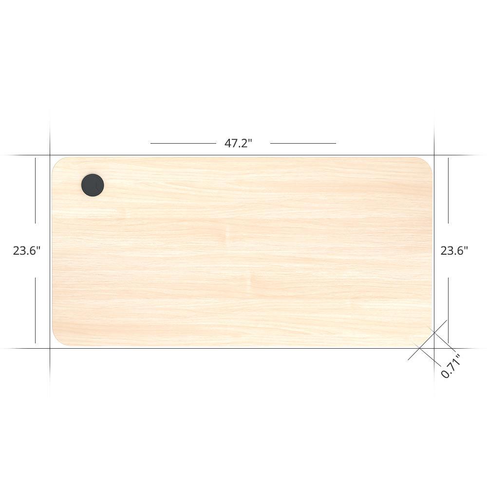 ACGAM 120 * 60 * 1.8 CM MDF de alta qualidade Tampo de mesa adequado para ACGAM Electric Standing Desk Frame (motor único e motor duplo) - Madeira