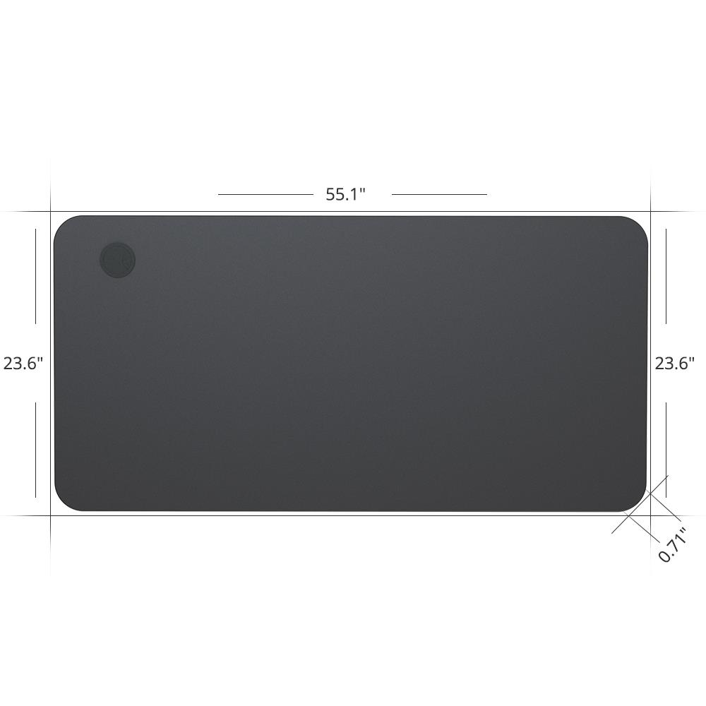 ACGAM 140 * 60 * 1.8 CM MDF kiváló minőségű asztallap ACGAM elektromos álló asztali kerethez (egy- és kétmotoros) - fekete