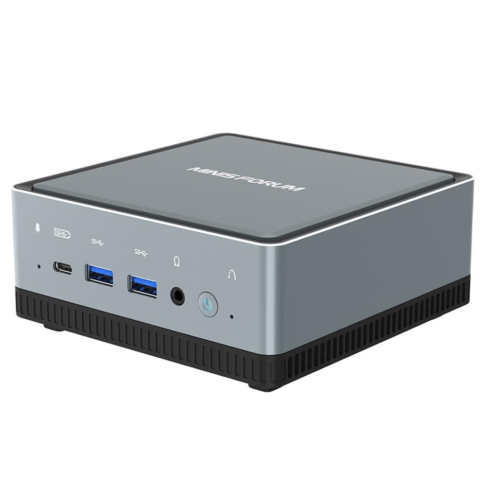 MINISFORUM U820 Intel Core i5-8259U 8 Go de RAM 256 Go SSD sous licence Windows 10 Pro Mini PC WIFI 6 2.5G LAN SATA * 2 RJ45 * 2 HDMI DP