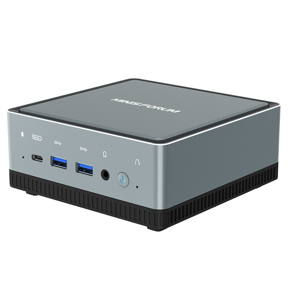 MINISFORUM U850 Intel Core i5-10210U 8 Go de RAM 256 Go SSD sous licence Windows 10 Pro Mini PC WIFI 6 2.5G LAN SATA * 2 RJ45 * 2 HDMI DP